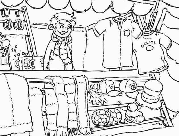 Ilustrace pro Ediku ve fázi perokresby. Byť elektronické.