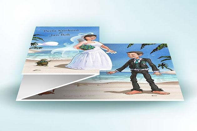 Ukázka skládacího svatebního oznámení