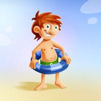 Kreslená postavička pro webovou stránku Axa