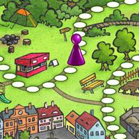 Ilustrace pro dětskou deskovou hru