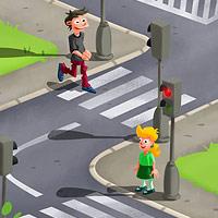 Přechod pro chodce - ilustrace pro dětskou aplikaci