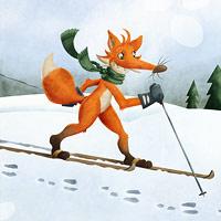 Liška ve stopě - obrázek pro děti