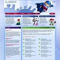 Kreslené postavičky pro web Westcom
