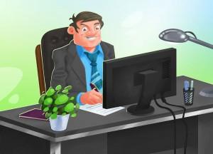 Manažer, obrázek pro interní komunikaci