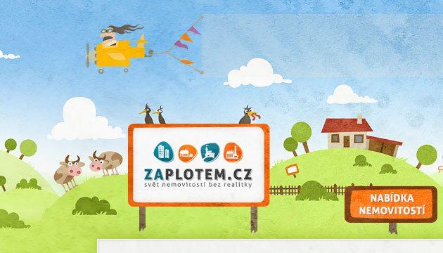 Zaplotem.cz – malovaný webdesign pro server s nemovitostmi