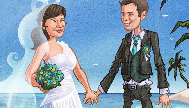 Netradiční skládací svatební oznámení