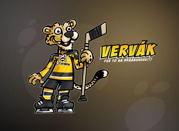 Maskot pro litvínovské hokejisty
