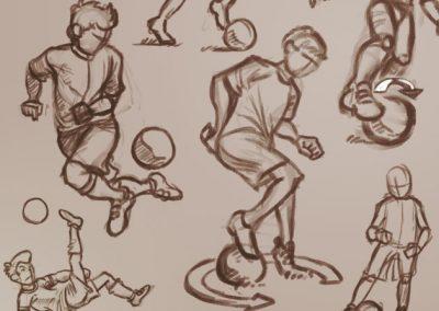 Fotbalová angličtina a němčina - skici ke schválení