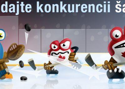 Ilustrace banneru - MS hokej