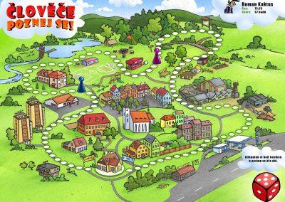 Člověče poznej se - ilustrace pro dětskou hru