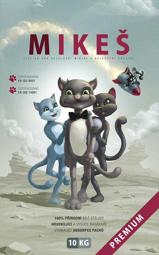 Ilustrace a design obalu pro steliva Mikeš Premium