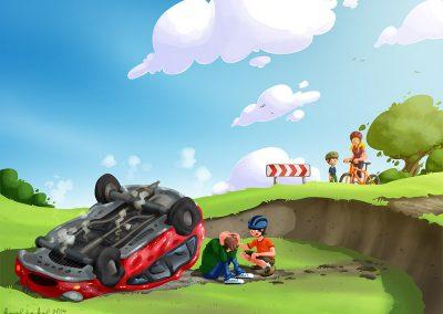 DVI - ilustrace dopravní nehoda