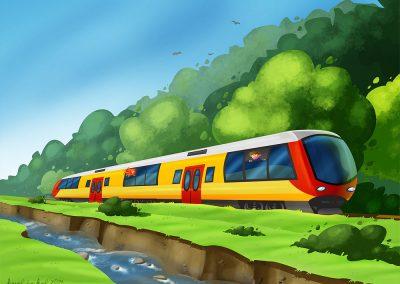 DVI - ilustrace cesty vlakem