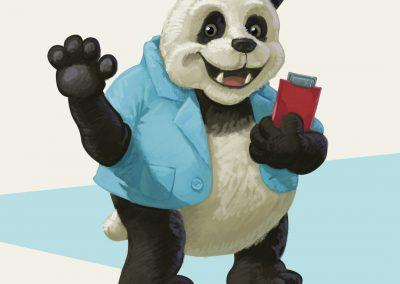 Ilustrace - postavička pandy
