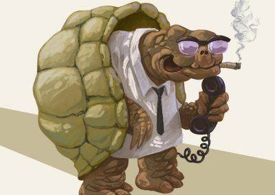 Ilustrace - postavička želvy