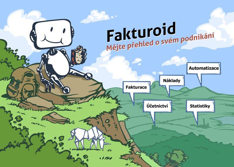 Fakturoid - ukázka kreslené firemní identity