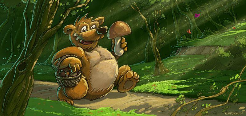 Ilustrace medvěda