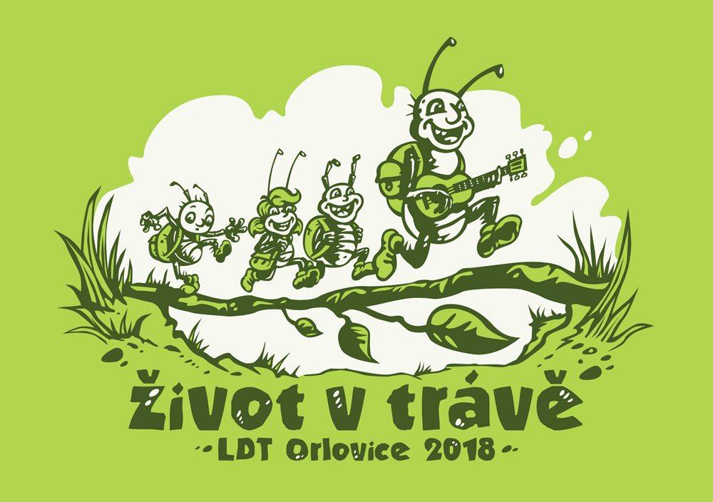 Motiv trička pro dětský tábor LDT Orlovice 2018