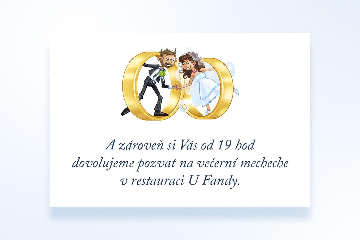 Ukázka pozvánky ke svatebnímu stolu