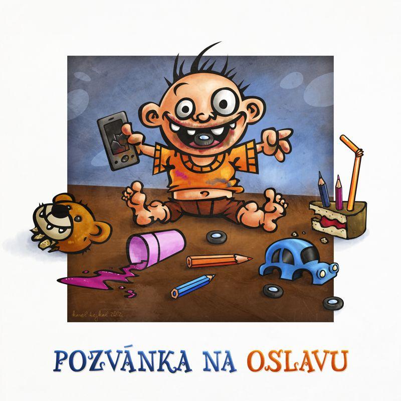 Ilustrace - pozvánka na dětskou oslavu
