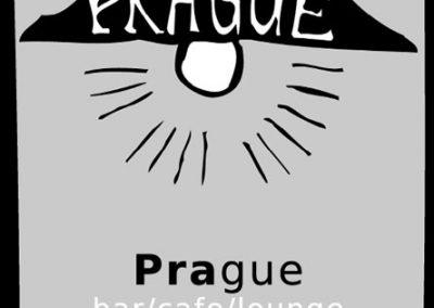 Bar Prague - Kreslená identita londýnského baru - vizitka