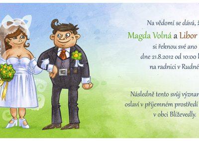 Svatební oznámení - plnoštíhlí