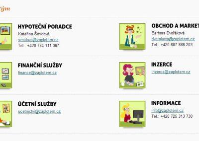Zaplotem.cz - realitní web s kreslenou identitou - detail stránky