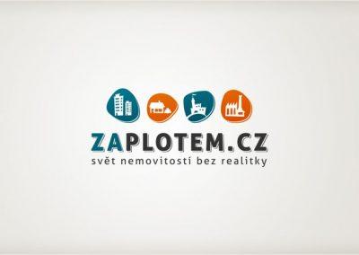 Zaplotem.cz - realitní web s kreslenou identitou - logo