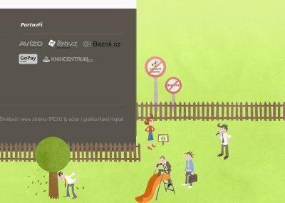 Zaplotem.cz - realitní web s kreslenou identitou - detail patičky