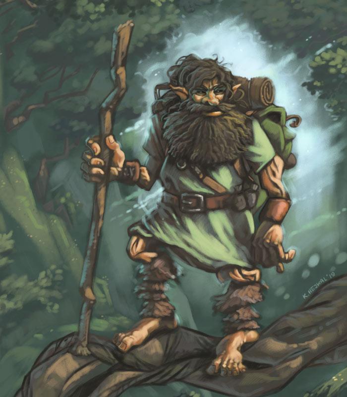 Ilustrace - lesní cestovatel